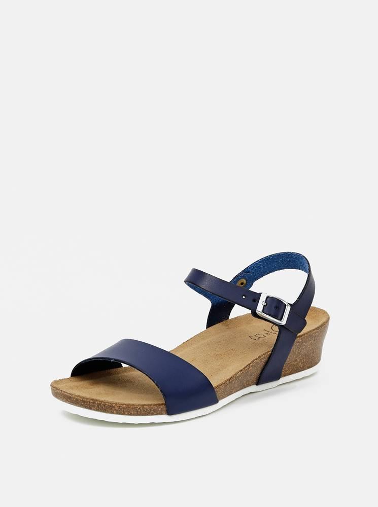 OJJU Tmavomodré dámske sandálky OJJU