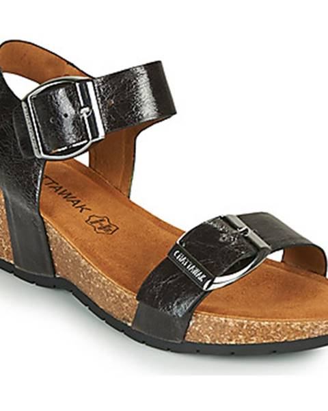 Čierne sandále Chattawak