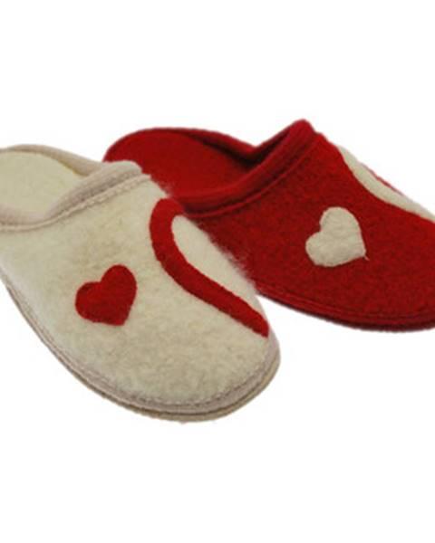 Červené papuče De Fonseca