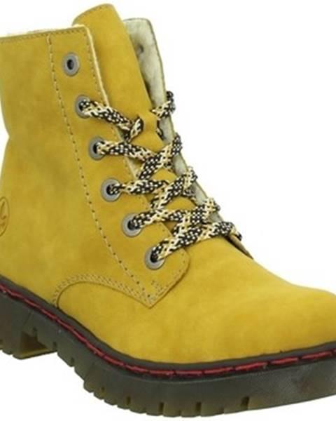 Žlté topánky Rieker