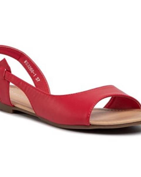 Červené sandále Bassano