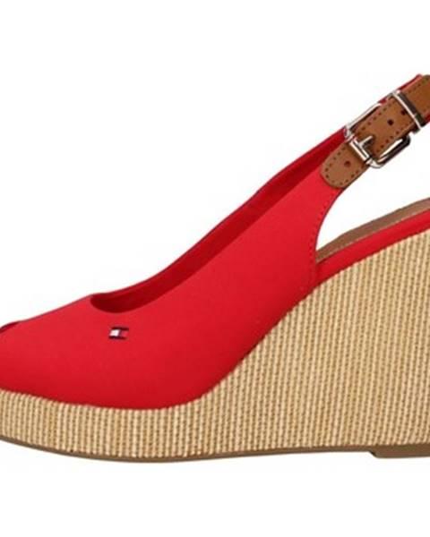 Červené sandále Tommy Hilfiger