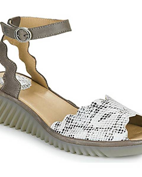 Zlaté sandále Fly London