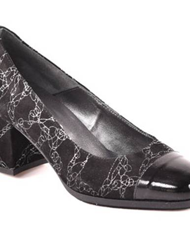 Čierne lodičky Grace Shoes