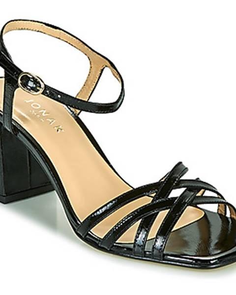 Čierne sandále Jonak