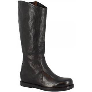 Čižmy do mesta Leonardo Shoes  W281-10 BUFALO NERO