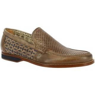 Mokasíny Leonardo Shoes  GABRY PE VITELLO BEIGE