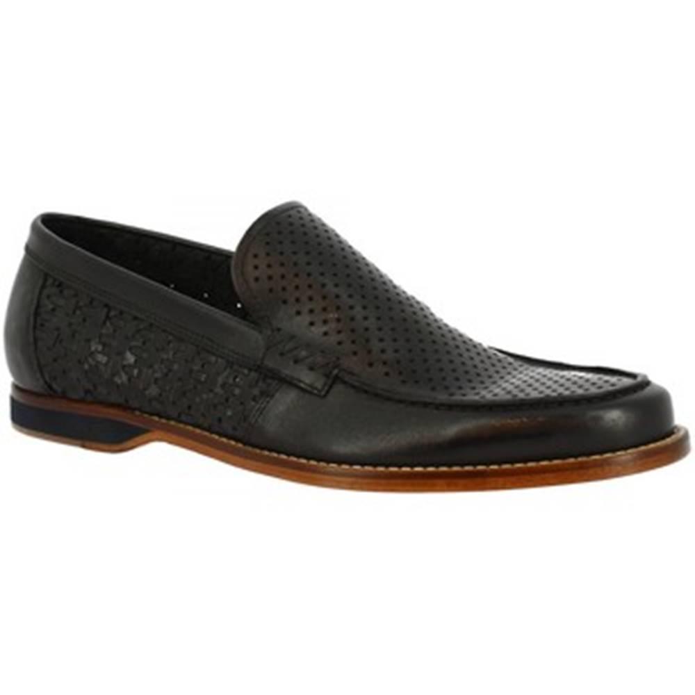 Leonardo Shoes Mokasíny Leonardo Shoes  GABRY PE VITELLO NERO