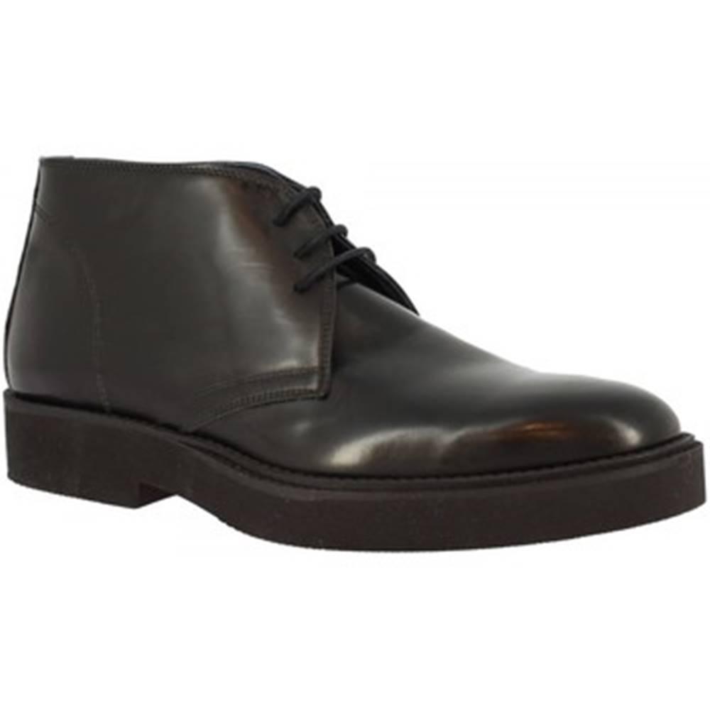 Leonardo Shoes Polokozačky  734-16 PE ABBRASIVA NERO