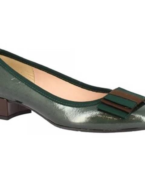 Zelené balerínky Leonardo Shoes