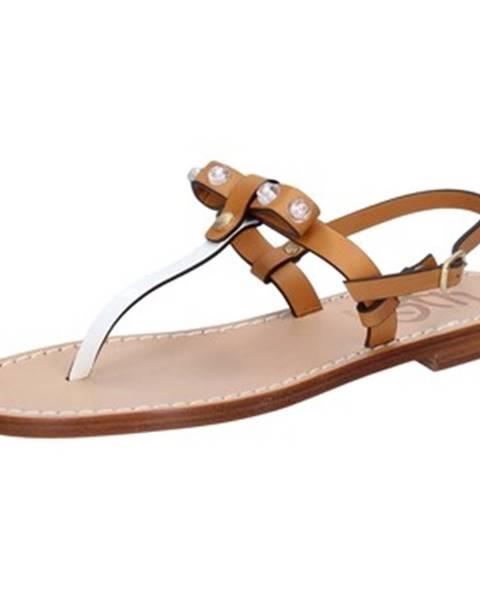 Hnedé sandále Eddy Daniele
