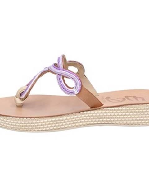 Fialové sandále Eddy Daniele