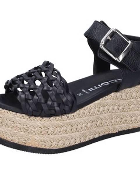 Čierne sandále Macomi