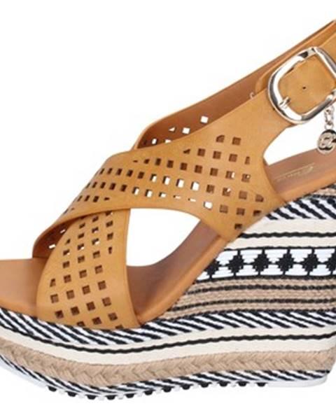 Hnedé sandále Enrico Coveri
