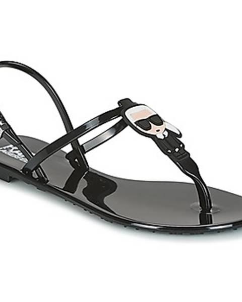 Čierne sandále Karl Lagerfeld