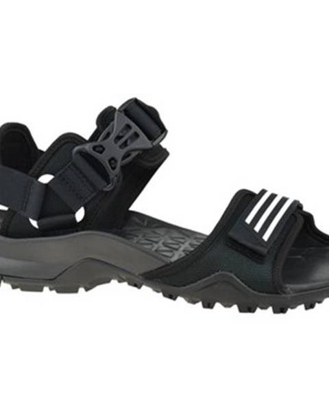 Čierne športové sandále adidas