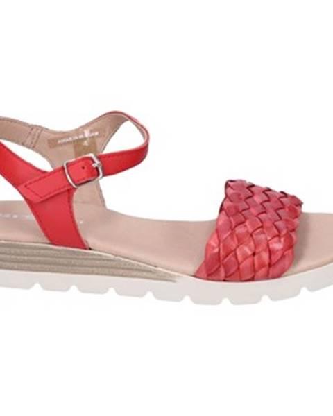 Červené sandále Rizzoli