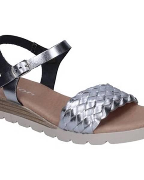 Strieborné sandále Rizzoli