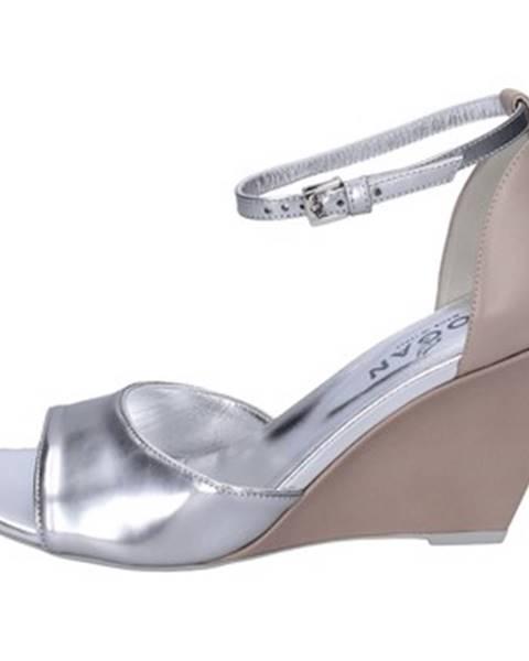 Strieborné sandále Hogan