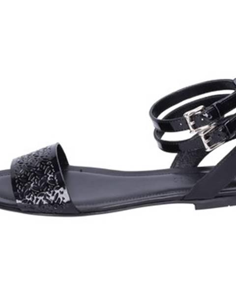 Čierne sandále Hogan