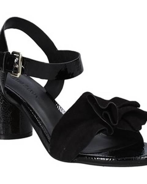 Čierne sandále Elvio Zanon