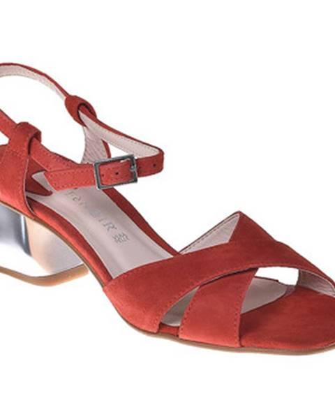 Červené sandále Café Noir