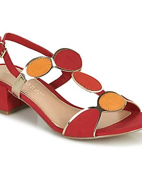 Červené sandále Marco Tozzi