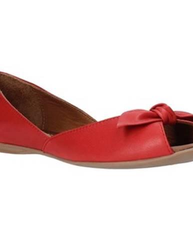 Červené balerínky Bueno Shoes