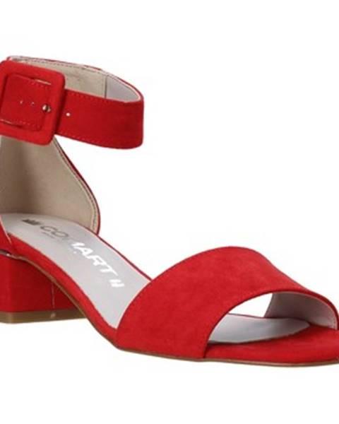 Červené sandále Comart