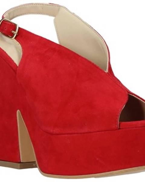 Červené sandále Esther Collezioni