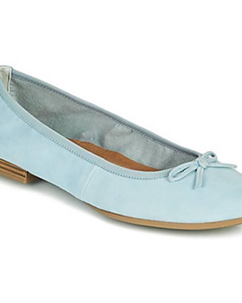 Modré balerínky Tamaris