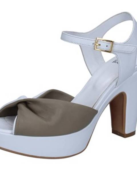 Biele sandále Silvia Rossini