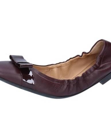 Bordové balerínky Bally Shoes