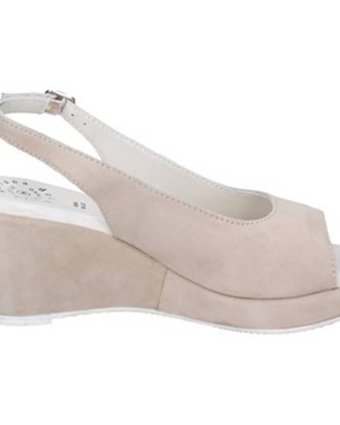 Béžové sandále Adriana Del Nista
