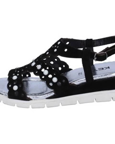 Čierne sandále Keys