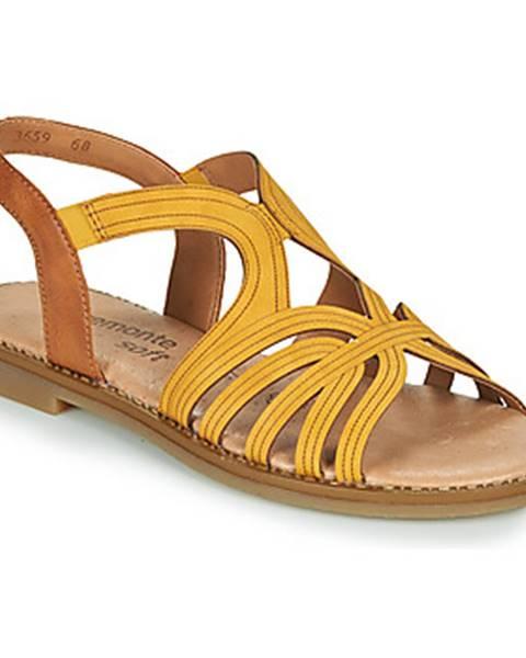 Žlté sandále Remonte Dorndorf