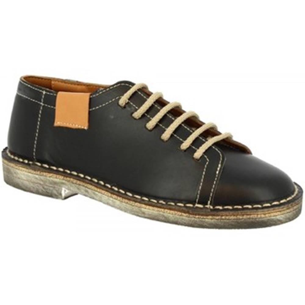 Leonardo Shoes Derbie Leonardo Shoes  1800 VACCHETTA NERO
