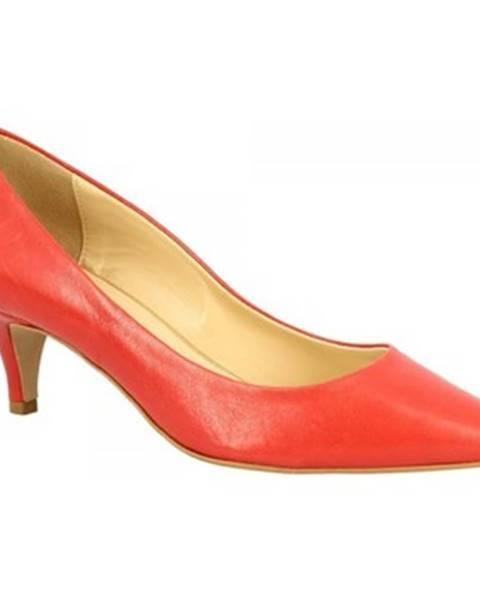 Červené lodičky Leonardo Shoes