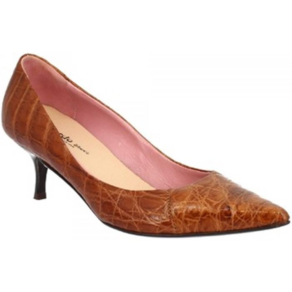 Leonardo Shoes Lodičky Leonardo Shoes  AGRIGENTO CUOIO