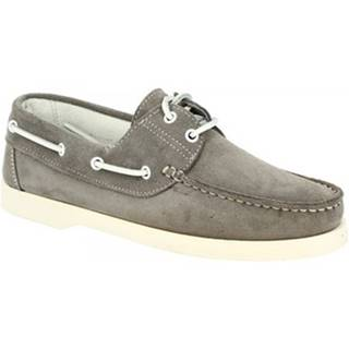 Mokasíny Leonardo Shoes  C04 CAMOSCIO GRIGIO