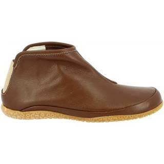 Polokozačky Leonardo Shoes  023 NUTELLA