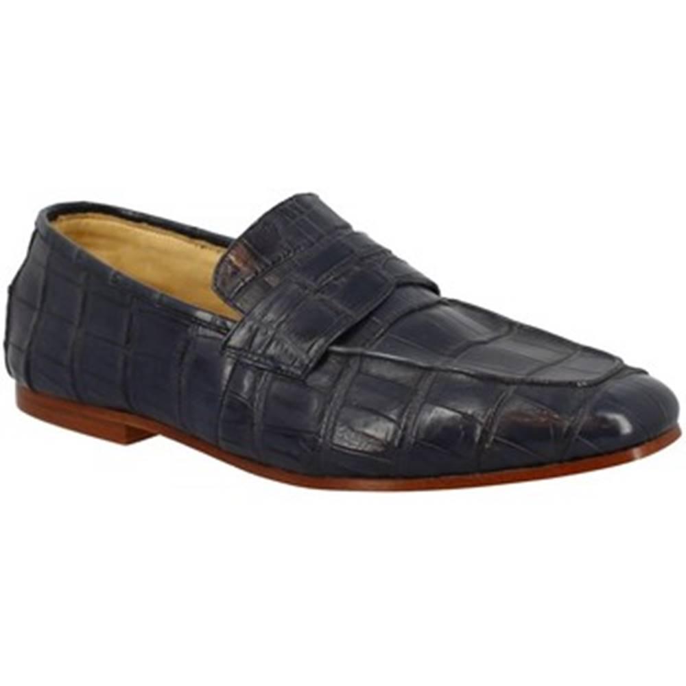 Leonardo Shoes Mokasíny Leonardo Shoes  TRENTO COCCO BLU