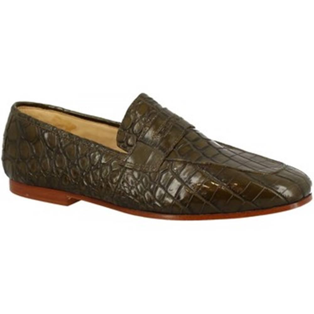 Leonardo Shoes Mokasíny Leonardo Shoes  TRENTO COCCO VERDE