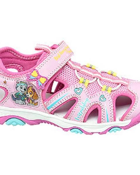 Ružové sandále Paw Patrol