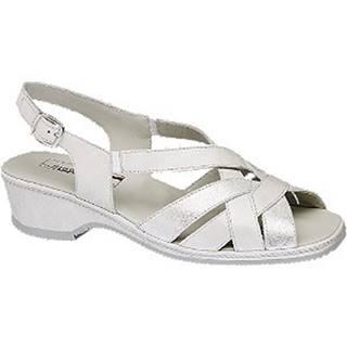 Perleťové kožené komfortné sandále Medicus