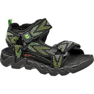 Čierno-zelené sandále Elefanten