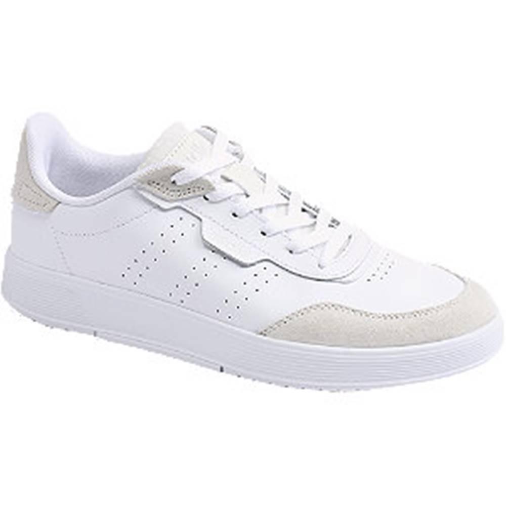 adidas Biele kožené tenisky Adidas Courtrook