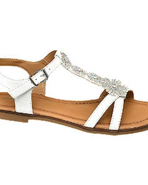 Biele sandále Graceland