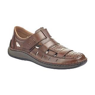 Hnedé kožené komfortné sandále Rieker