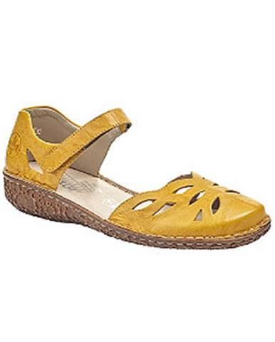 Žlté sandále Rieker